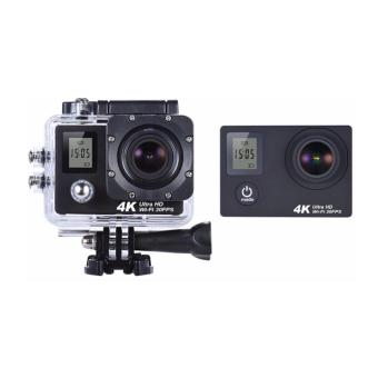 APPO W9D Dual Screen Ultra HD 4K 1080P 12MP WIFI Waterproof MiniSports Action Camera (Black) - 3
