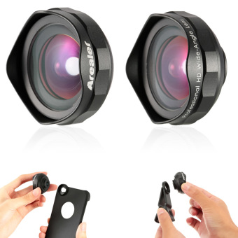 Arealer Professional Universal 18MM Wide Angle Cell Phone CameraLens Kit Wider Landscape High Clarity No Distortion No Dark Circlefor Smartphones with Case for iPhone 6 / 6S and Clip - intl - 3