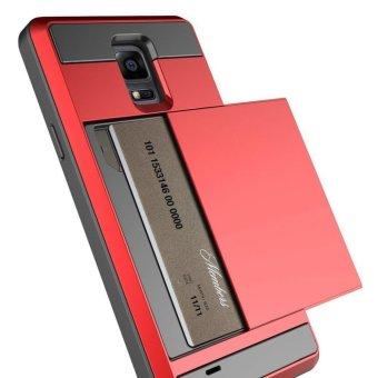 Armor Cases for Samsung Galaxy Note 4 Credit card slot WalletShockproof - intl - 2