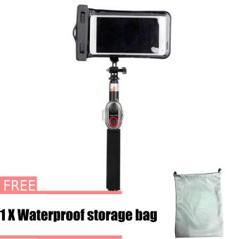 ASHUTB Floating Selfie Monopod Stick with Waterproof Underwater Case - intl