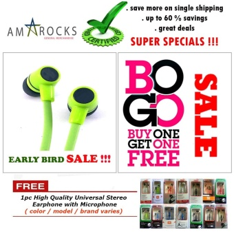 Assorted High Bass Stereo Sound Earphone / Headsets with Microphonefor Acer Phone (All Model Compatible)