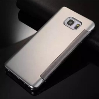 Asuwish for Samsung Note 4 Flip Case Clear View Electroplating Hard Mirror Cover Phone Cases for Samsung Galaxy Note 4 Note4 N910 N910F - intl - 3