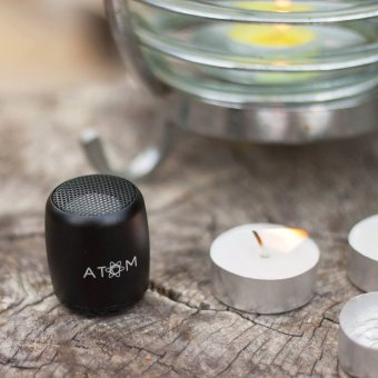Atom Micro Portable Bluetooth Speaker (Silver) - 5
