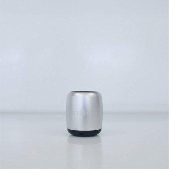 Atom Micro Portable Bluetooth Speaker (Silver) - 4