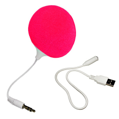 Audio Jack Speaker with Cable Speaker (Pink)