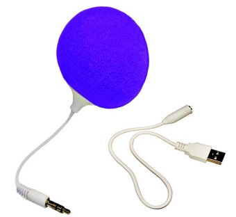 Audio Jack Speaker with Cable Speaker (Purple)