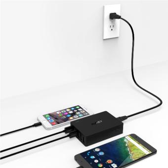 Aukey 6-Port Charging Station with Quick Charge 3.0 - Black - 5