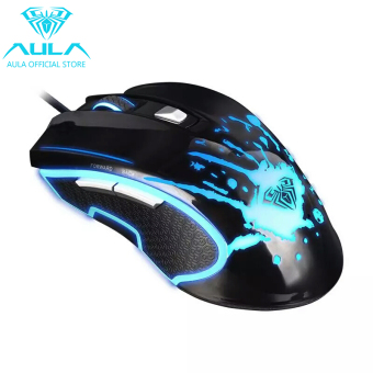 AULA OFFICIAL Sanction Optical Wired Colorful Backlight GamingMouse(Black) - 2