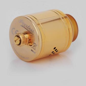Authentic GeekVape Peerless RDA Special Edition RebuildableDripping Vape Atomizer - Gold, Stainless Steel, 24mm Diameter - 3