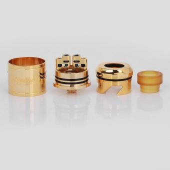 Authentic GeekVape Peerless RDA Special Edition RebuildableDripping Vape Atomizer - Gold, Stainless Steel, 24mm Diameter - 4