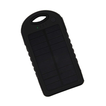 Auxis Solar Charger 108000 mAh LED Power Bank with Flashlight(Black) Price Philippines