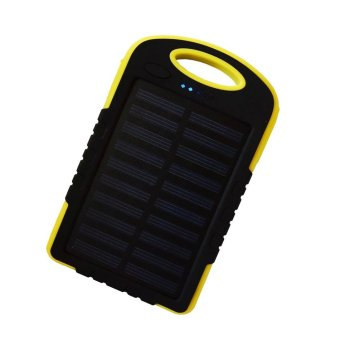 Auxis Solar Charger 80000mAh LED Power Bank with Flashlight(Yellow) Price Philippines