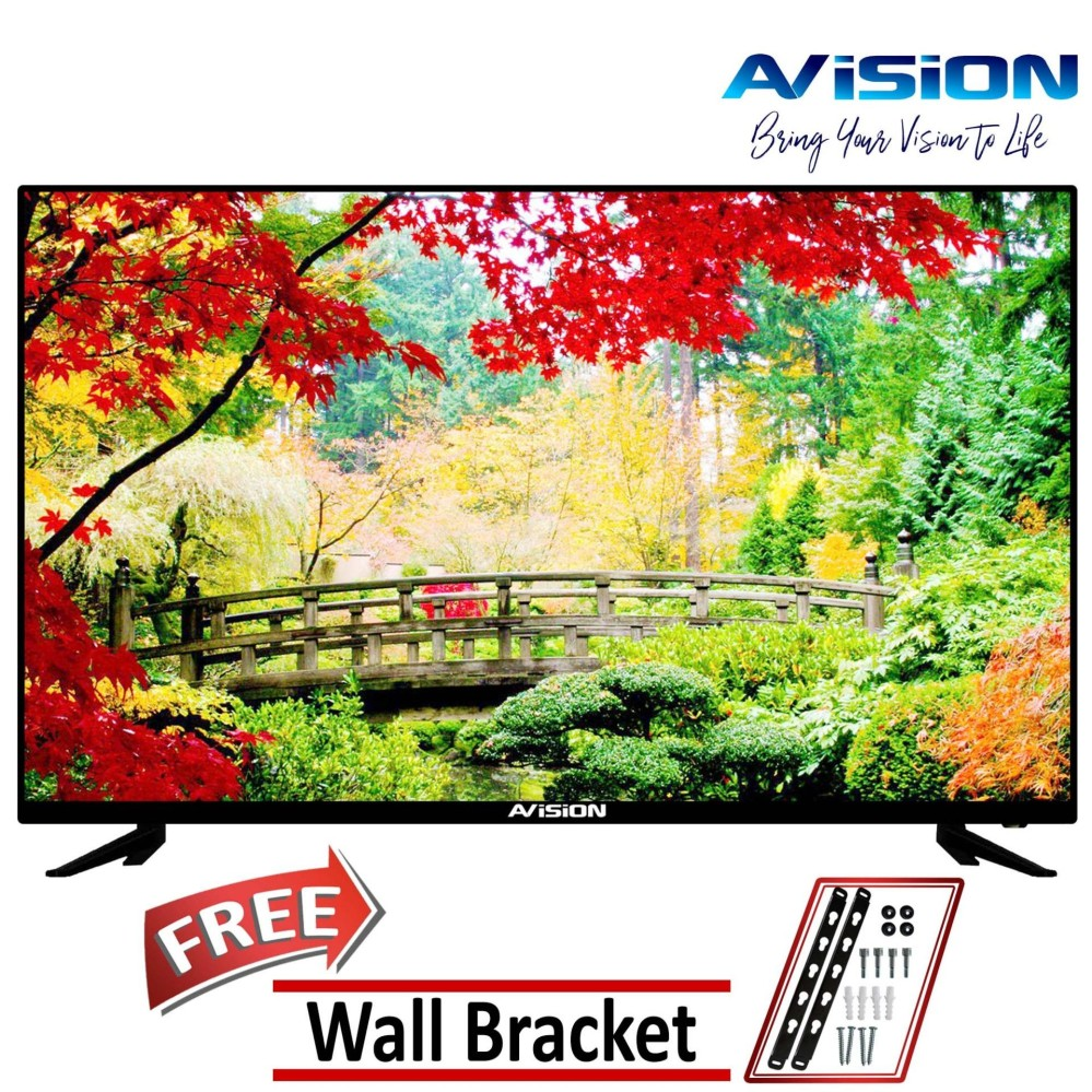 avision 40 full hd led tv 40k786 (black) with free wall bracket