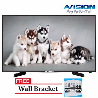 "Avision 49"" Full HD Digital LED TV (Black) 49K786D with Free Wall Bracket"