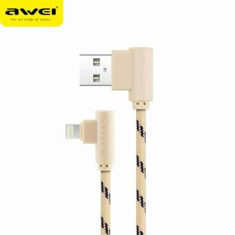 Awei CL-92 2M Lightning Data Fast Charging Charge Cable AppleiPhone IOS (Gold)