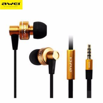 Awei ES - 900i Noise Isolation In-ear Earphone with 1.2m Cable Mic (Gold)