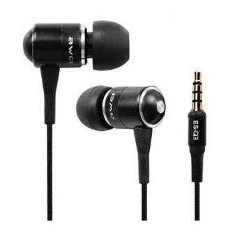 Awei ES-Q3 Noise-Isolation In-Ear Headphone (Black)
