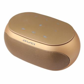 Awei Y200 HiFi Wireless Portable Bluetooth Speaker with TF/AUX Slot(Gold) Price Philippines
