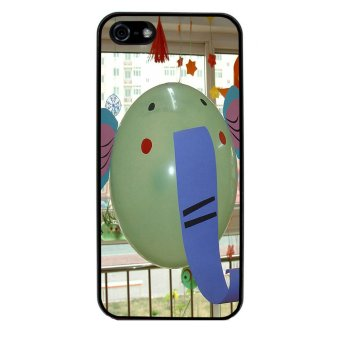 Balloon Pattern Phone Case for iPhone 4/4S (Black)