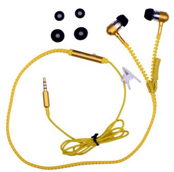 B&D Super Bass Zipper In-Ear Earphone (Gold) - 2