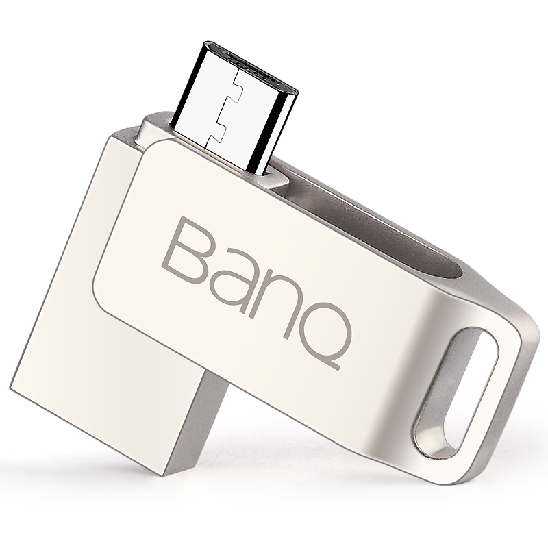 ... BanQ OTG USB Flash Drives USB3.0+Micro USB Adapter 16GB (Silver) ...