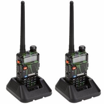 Baofeng UV-5R Dual Band 136-174/400-480 MHz FM Two-Way Radio (Green/Camouflage) Set of 2