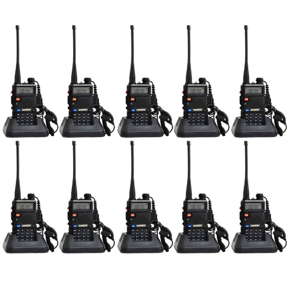 Philippines Baofeng Uv 5r Walkie Talkie Dual Band Radio Ht Bf Uv5r Uhf Vhf Set Of 10 Black