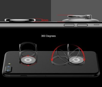 Baseus 360 degrees Finger Ring Desk Stand Holder Fit Universal Mobile Phone and Magnetic Car Bracket Luxury Phone Holder Stand - intl - 2