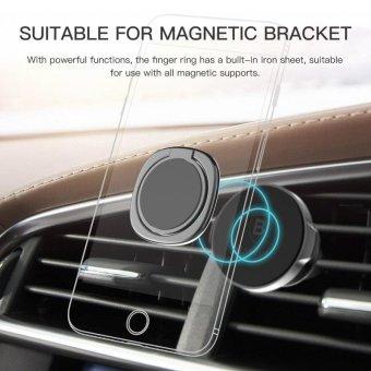 Baseus 360 degrees Finger Ring Desk Stand Holder Fit Universal Mobile Phone and Magnetic Car Bracket Luxury Phone Holder Stand - intl - 3