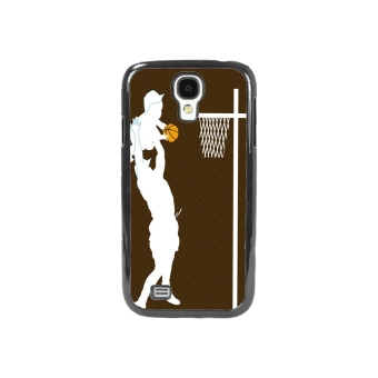Basketball Pattern Phone Case for Samsung Galaxy S4 (Brown)