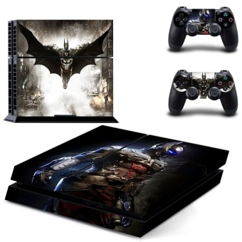 Batman VS Joker PS4 Decal Skin Sticker For Sony Playstation 4Console protection film +2Pcs Controllers Protective Cover DPTM0240- intl