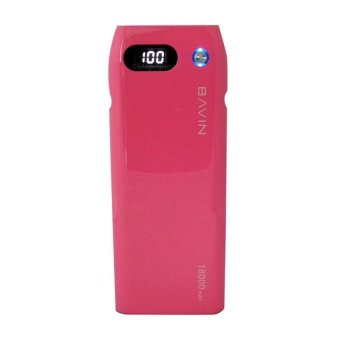 Bavin 18000mAh Digital Power Bank (Hot Pink)