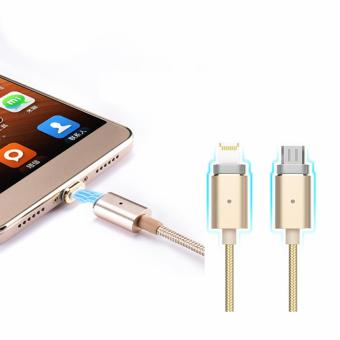 Bavin 2 in 1 Magnetic Data Cable For IOS and Android (Gold)