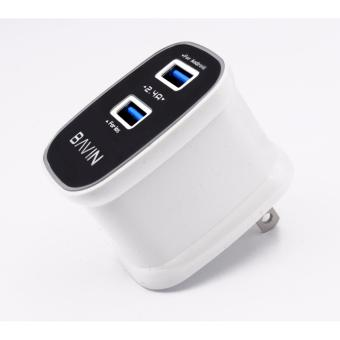 Bavin 2.4A Dual USB Fast Charger High Efficiency Quick ChargingTravel Adapter for Android - 3