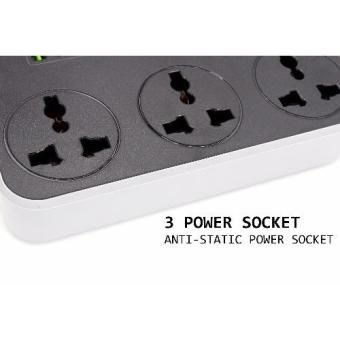 Bavin 6 USB Port with 3 Power Socket Multi-Function Universal FastCharger - 3
