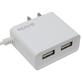 BAVIN Fast Charger with 2 USB Ports iPhone 6 (White) with Free USBCard Reader - 3