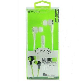 Bavin H-3.5-K61 100dB Motor Type Headset (White)