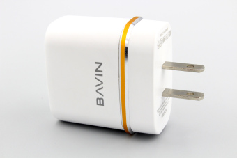 Bavin Lightning Charger Quick 2.4A Fast Charger Dual port for AppleiPhone 5/5s,6/6s, 6/6sPlus (White) - 3