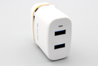 Bavin Lightning Charger Quick 2.4A Fast Charger Dual port for AppleiPhone 5/5s,6/6s, 6/6sPlus (White) - 4