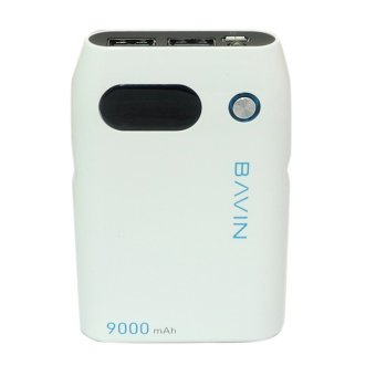 Bavin PC-217 9000mAh Digital Power Bank (White)