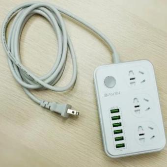 Bavin SC-3603 Multi-Function Charging HUB 6 USB Ports with 3 Power Socket - 4
