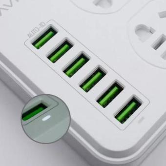 Bavin SC-3603 Multi-Function Charging HUB 6 USB Ports with 3 Power Socket - 3