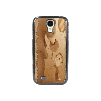 Bear Pattern Phone Case for Samsung Galaxy S4 (Brown)