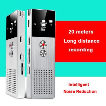 BENJIE M23 8GB Digital Voice Recorder 20m Professional AudioRecorder Portable One Key Recorder (Silver) - intl - 5