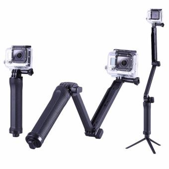 Best Quality GoPro Monopod Collapsible 3 Way Monopod Mount Camera Grip Extension Arm Tripod Stand for Gopro Hero 5 4 2 3 3+ 2 1 SJ4000 - 2
