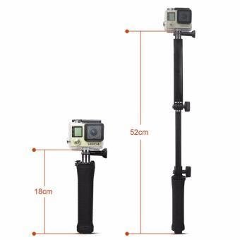 Best Quality GoPro Monopod Collapsible 3 Way Monopod Mount Camera Grip Extension Arm Tripod Stand for Gopro Hero 5 4 2 3 3+ 2 1 SJ4000 - 4