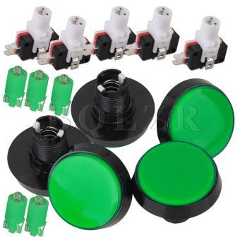 Big Round Arcade Push Button Switch Set of 5 (Green)