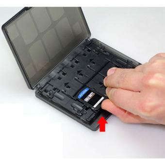 Black 18 in 1 Game Memory Card Holder Case Storage Box for Sony PSVita PSV