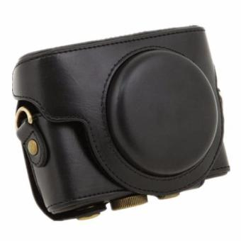 Black Camera PU Leather Case Cover Bag for Sony DCS-RX100 II M3 M4(Intl) - intl Price Philippines
