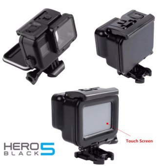 Black Edition Blackout 30M Waterproof Underwater Case with SpareTouch Back Window for GoPro Hero 5 Action Camera (Black)